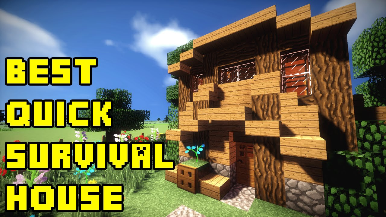 minecraft best quick survival house build tutorial xboxpepcps3ps4 youtube - Biggest Minecraft House In The World 2015