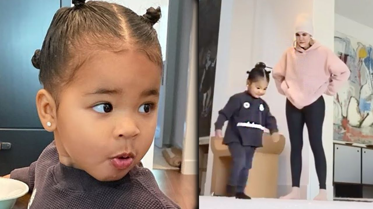 Khloe Kardashian Reacts To True Thompson Cartwheel Video - YouTube