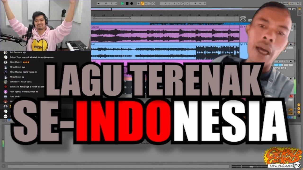 LAGU-LAGU PRODUSER MUDA TERBAIK SE-INDONESIA // Gerald Gerald Live Feedback RECAP