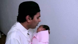 Adhan for baby Sabriana Yacoob