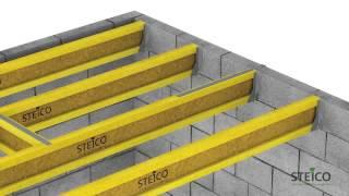 Steico Joist . Монтаж балок перекрытия.(STEICO joist - это балочная каркасная система для конструкций перекрытия и крыш. - балки joist обладают высокой..., 2014-09-24T14:54:17.000Z)