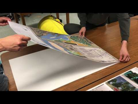 How to perfectly spray mount and cut foam core presentation boards.