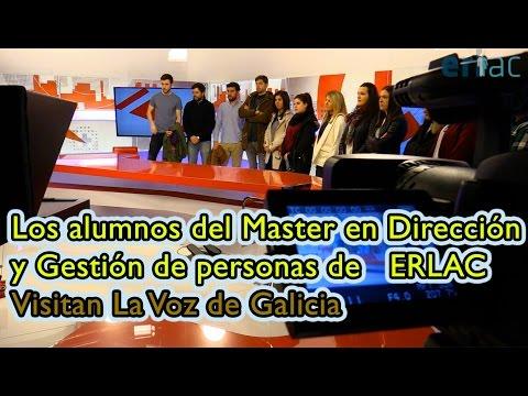Visita a La Voz de Galicia y V Televisión