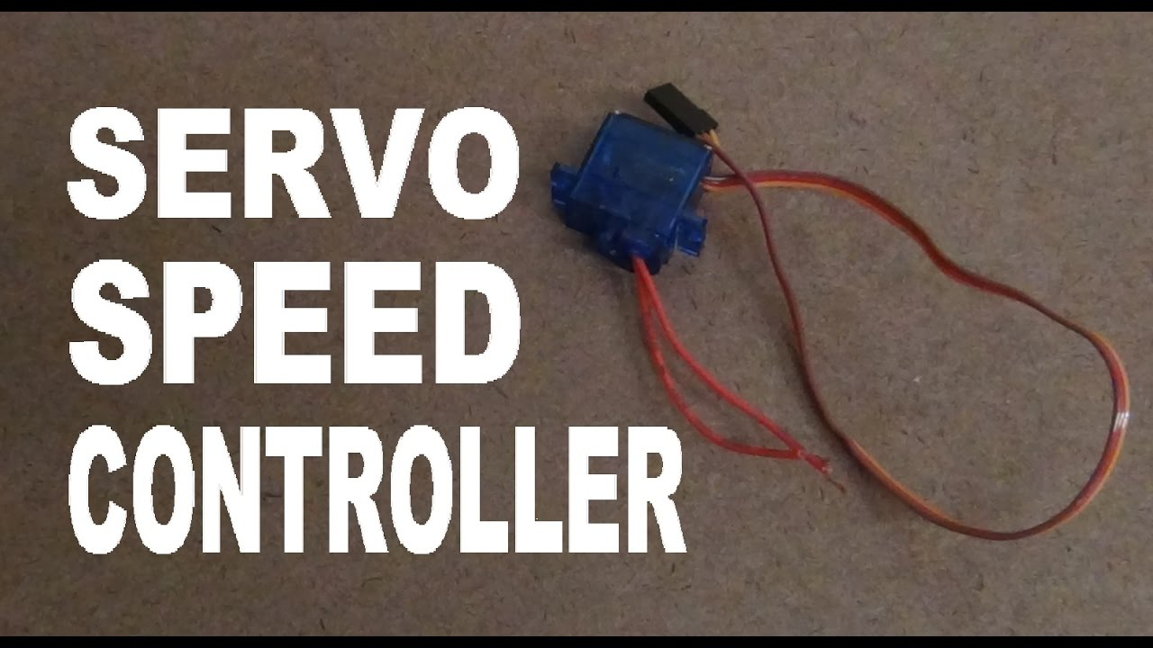 How to turn a servo into a speed controller super for How to control speed of servo motor