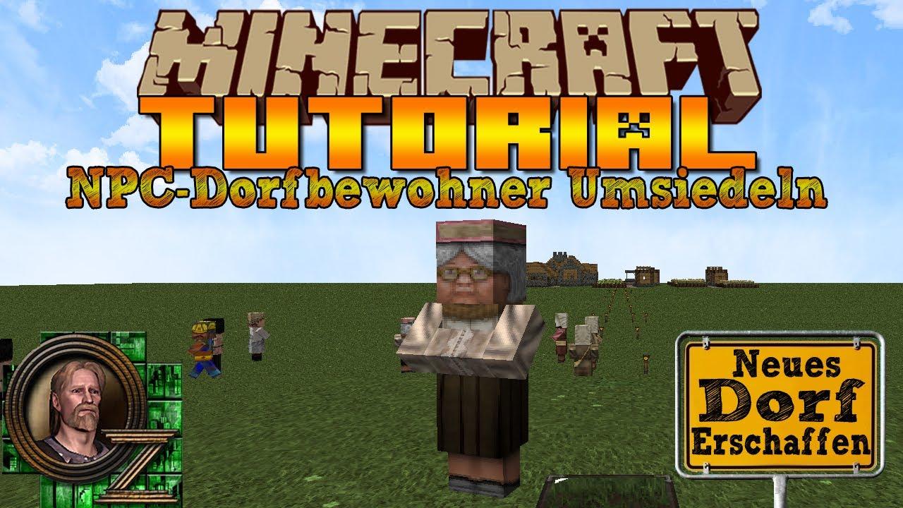 Minecraft NPCDorfbewohner Umsiedeln Und Neues Dorf Erschaffen HD - Minecraft dorfbewohner bauen hauser mod