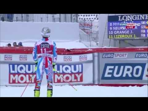 Julien Lizeroux's front flip - Méribel Slalom - FIS WC 2015