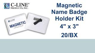 المغناطيسي نمط شارة اسم المجموعة ، 4 × 3 ، 20/BX - ج-خط المنتجات - 92943