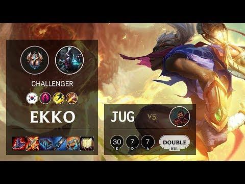 Ekko Jungle Vs Graves - KR Challenger Patch 10.10