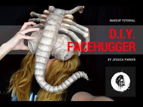 D.I.Y. Facehugger Mask - Makeup Tutorial!