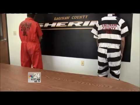 Saginaw County Jail Dumping Orange For Black And White Jumpsuits