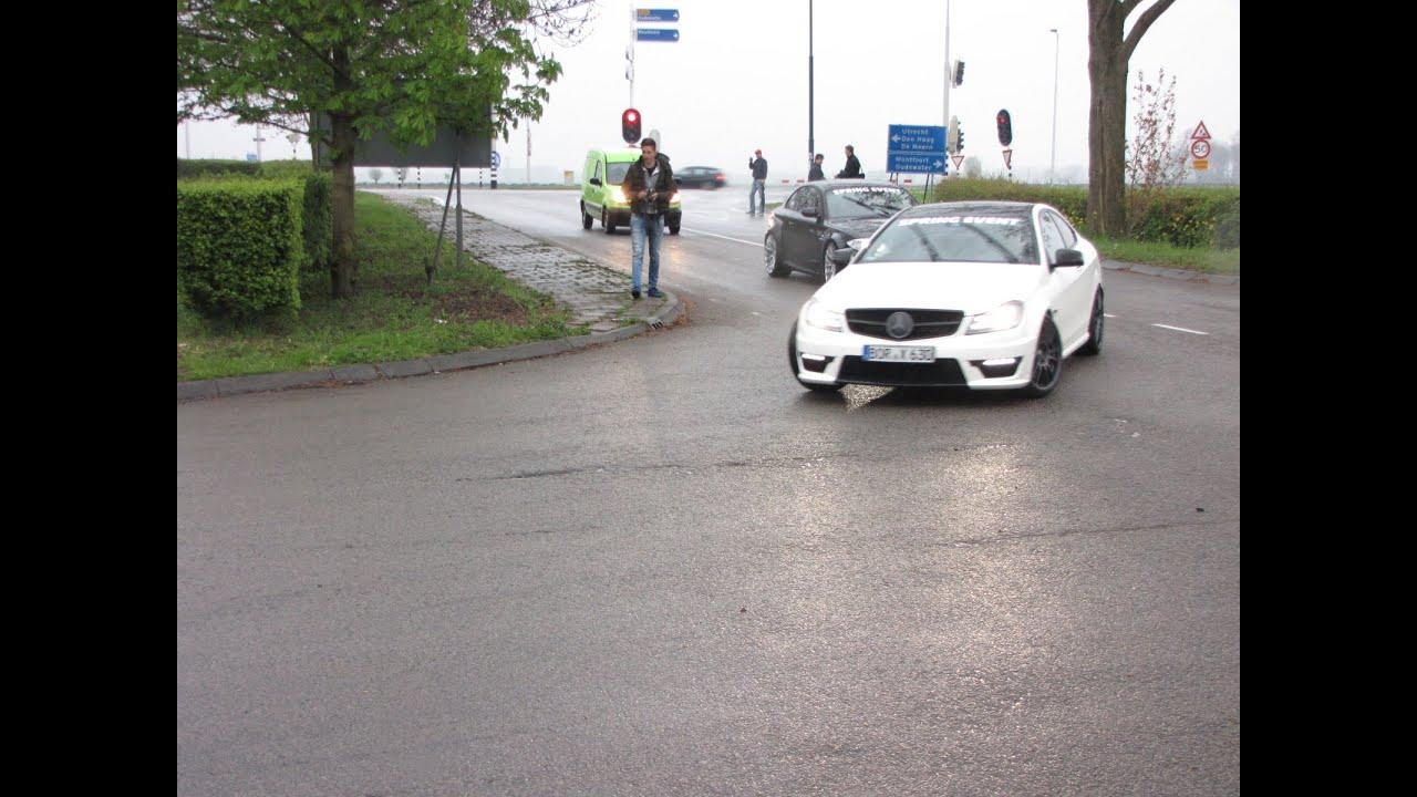 Mercedes C63 AMG Huge Power Slide !!!!!