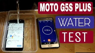 Moto G5s Plus water test #waterproof