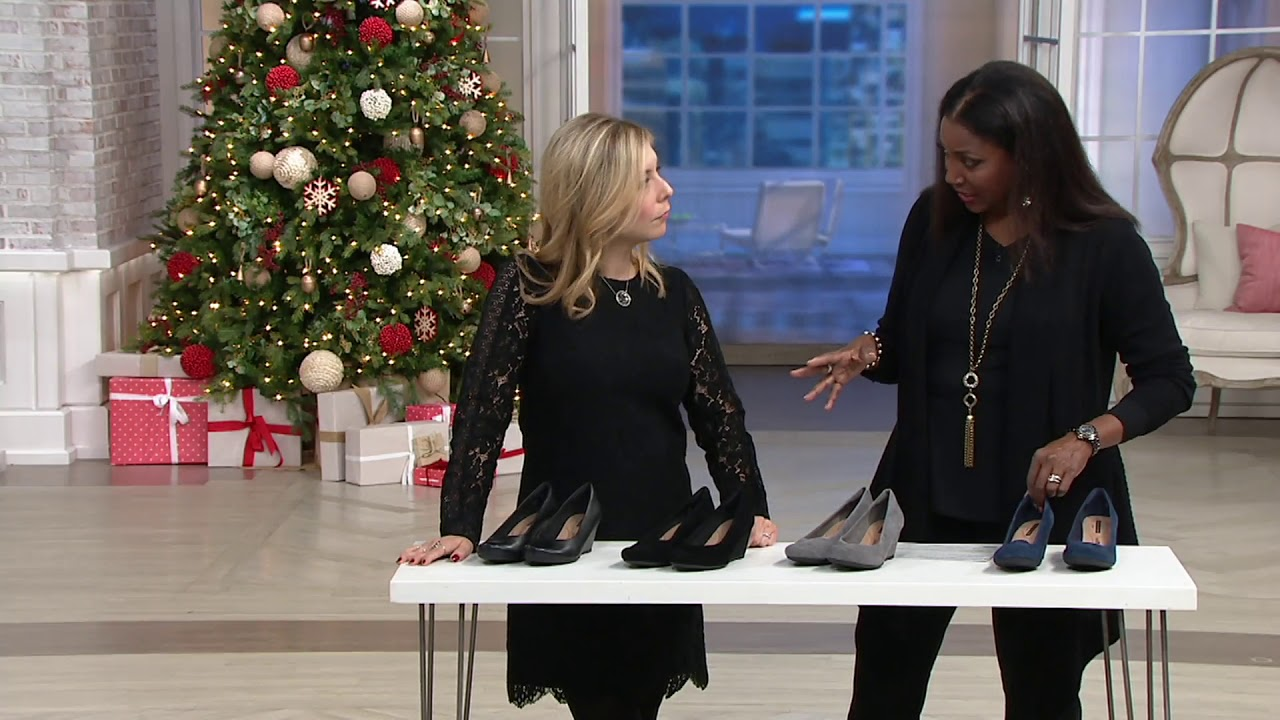 1c554776 Clarks Leather or Suede Wedge Pumps - Flores Tulip on QVC