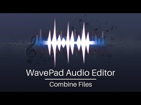 WavePad Audio Editor Tutorial | Combine Audio Files