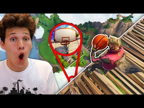 YOU WON'T BELIEVE THIS FORTNITE BASKETBALL TRICKSHOT! *OMG*