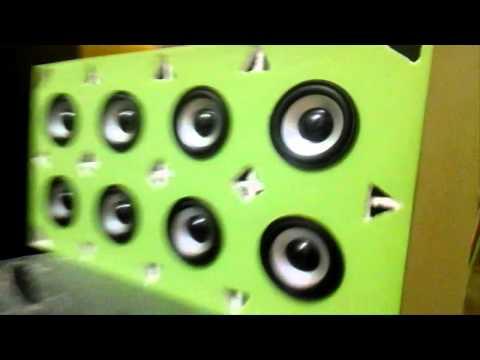 Testando o mini paredão detona funk (AQUI TEM SOM )