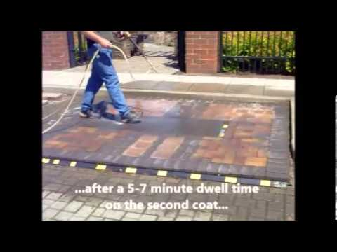 Concrete Paver Cleaning after installation
