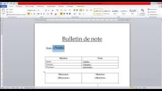 Publipostage : générer les bulletins de notes