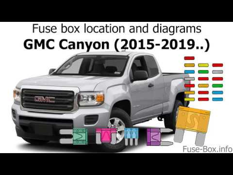 fuse box location and diagrams: gmc canyon (2015-2019  )