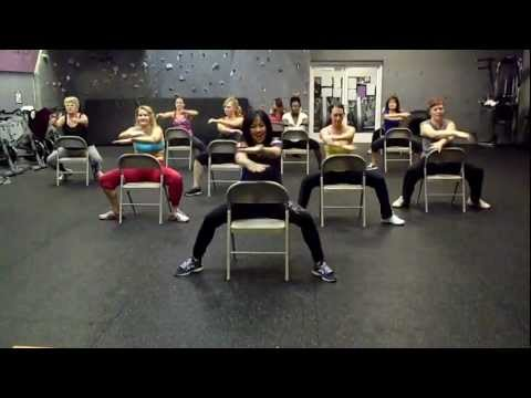 Chair Fitness Choreography with Kit -  Bom Bom by Sam and the Womp