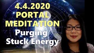 4.4.2020 Portal Meditation ~ Purging Stuck Energy || Tesla Codes Series #14