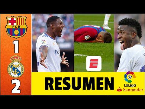 Barcelona 1-2 Real Madrid. EL CLÁSICO. Goles de Lucas Vázquez y Alaba. Marcó el Kun Agüero | La Liga