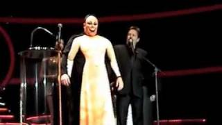 Terry Fator makes a human puppet