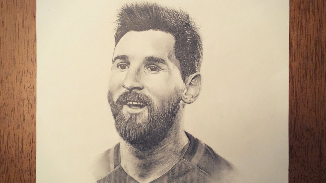 Drawing Lionel Messi - YouTube
