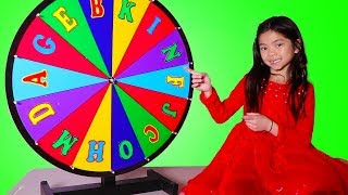 Emma Learns Alphabet with Spin Wheel Game