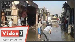 إزالة آثار حريق سوق الجمعة بالسيدة عائشة