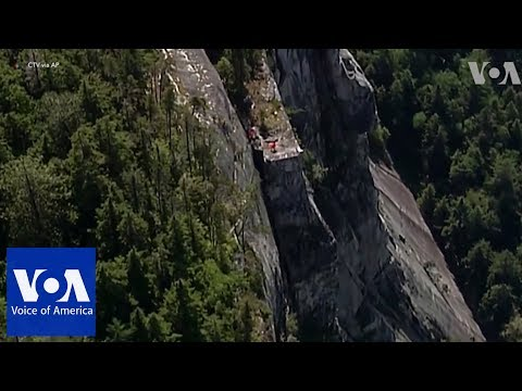 Man rescued from cliff in western Canada