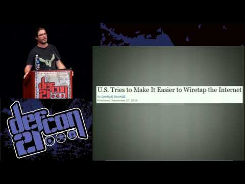 Defcon 21 - Backdoors, Government Hacking and The Next Crypto Wars