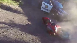Wild motorcycle chase through Calgary streets
