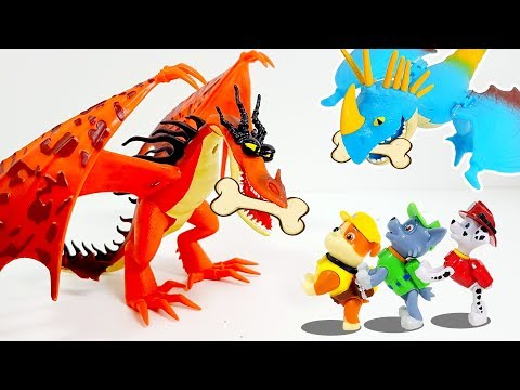 Dragon and Paw Patrol become friends and defeat the evil witch! ❤️ Rachaman Toy