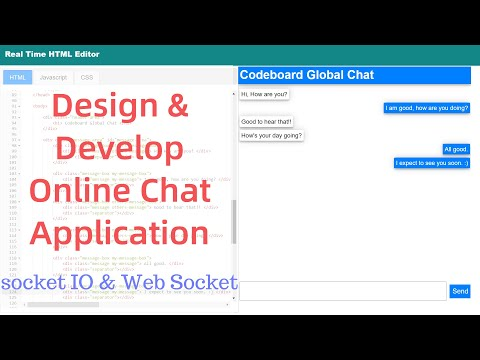 Develop An Online Chat Application:  Chat Application In Javascript | Socket.IO | Websocket