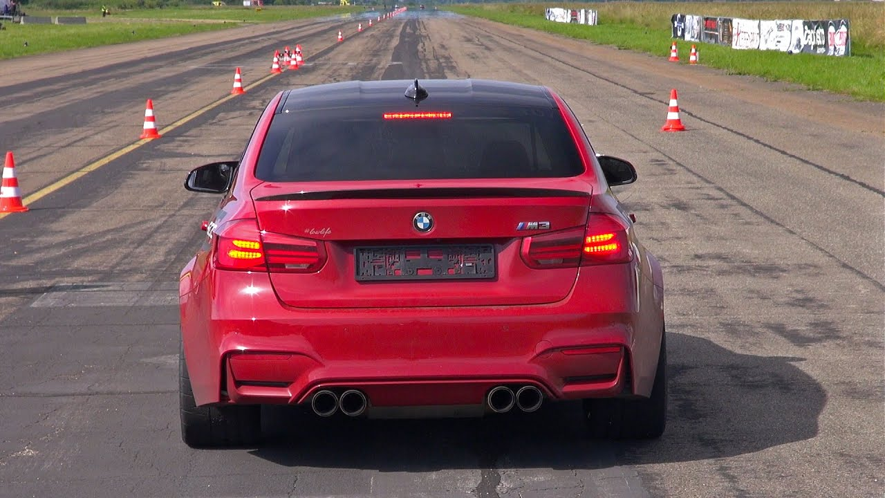 2016 bmw m3 f80 facelift w   akrapovic straight pipes exhaust