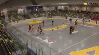 Huge Lacrosse Hit - Goalie gets Leveled and Line Brawl Breaks Out