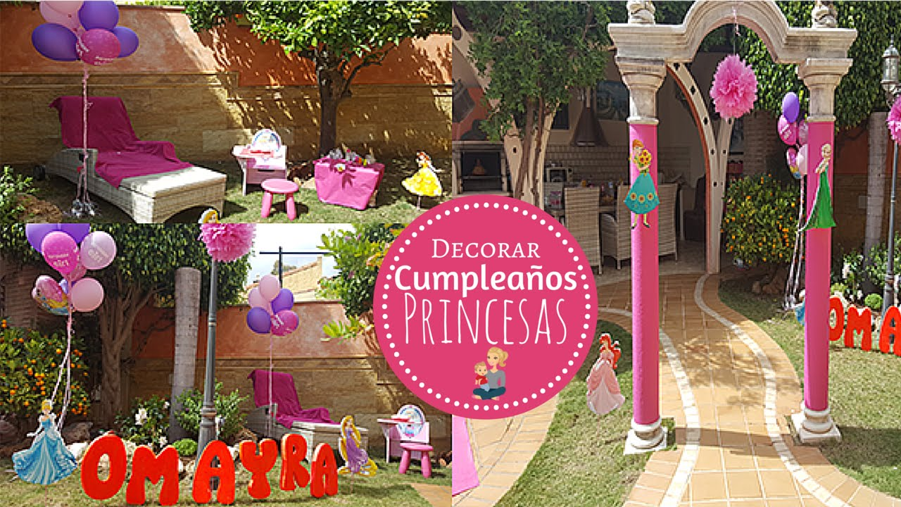 ideas para decorar cumpleaos temtico infantil de princesas disney youtube