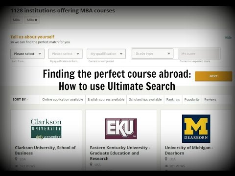 Finding the perfect course abroad: How to use Ultimate Search | Hotcourses Abroad