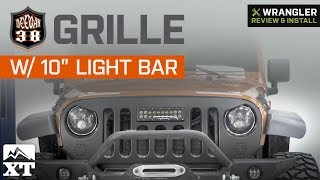 "Jeep Wrangler JK Deegan 38 Grille - 10"" LED Light Bar (2007-2018) Review & Install"