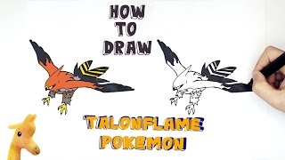 How to draw Talonflame Pokemon