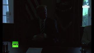 White House goes dark as Trump pledges loyalty to US intelligence