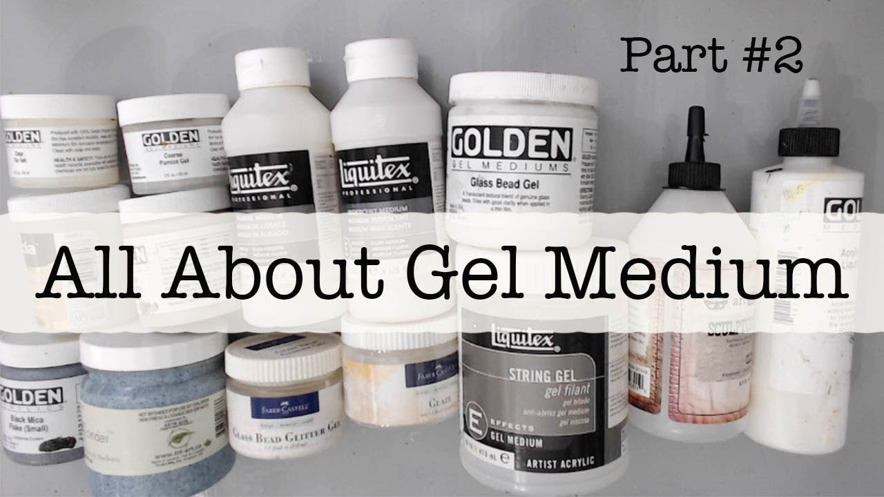 beginners mixed media all about gel medium part 2 what is acrylic