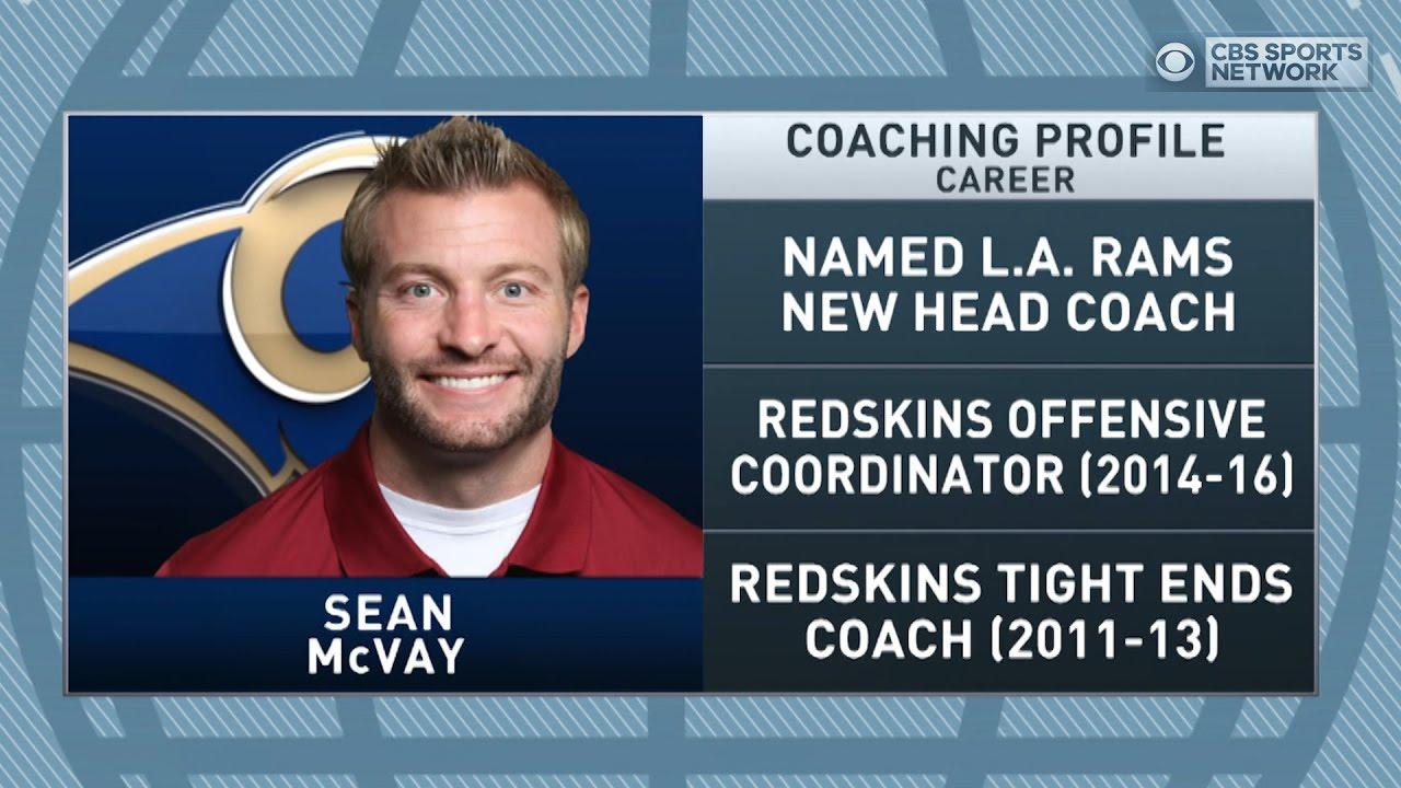 Gottlieb Sean Mcvay Named New Rams Head Coach Youtube