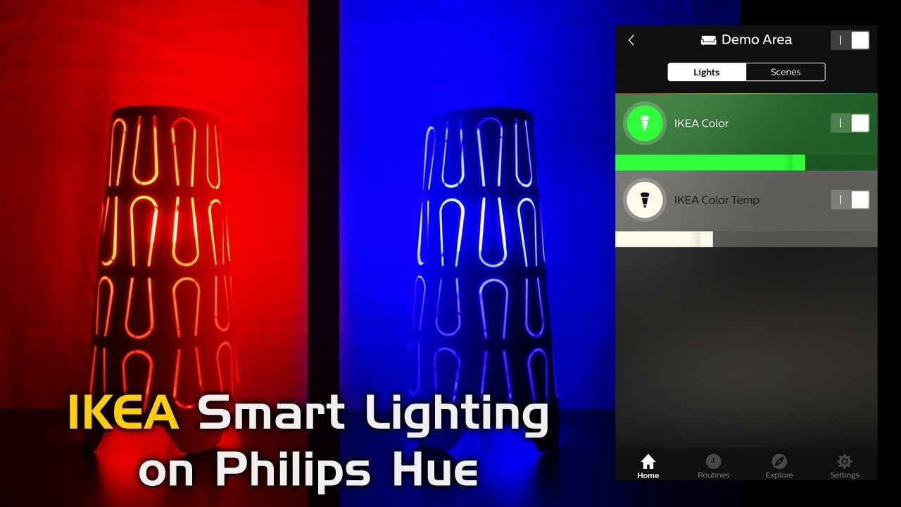 How to control IKEA Tradfri Smart Lighting with Philips Hue!