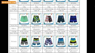 Swim board shorts style for order production