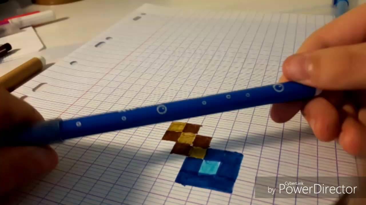 Dessin Minecraft 1 Comment Dessiner Une épée De Diamant