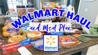 $118 Walmart Grocery Haul | Grocery Shopping On A Budget | Weekly Meal Plan | Living In The Mom Lane