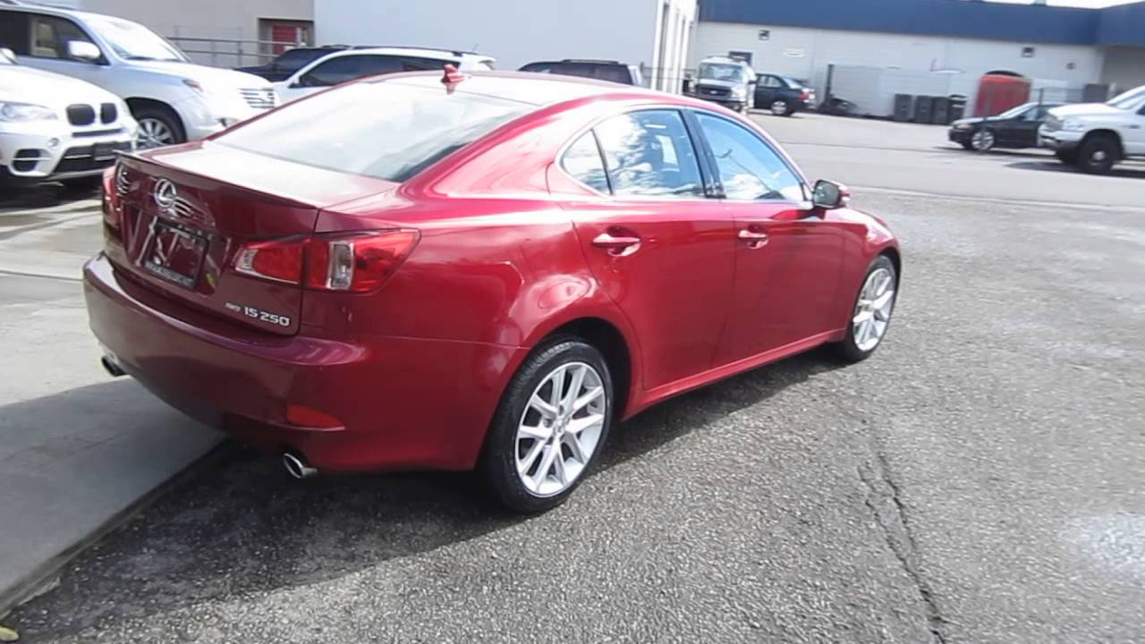2011 lexus is250 matador red mica stock 047284 walk around youtube. Black Bedroom Furniture Sets. Home Design Ideas