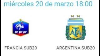 20/03/2019 Pinatar Football SUB20: FRANCE - ARGENTINA